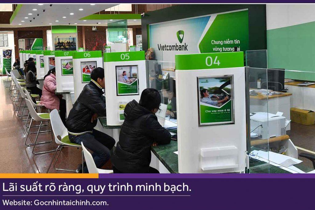 Giờ làm việc các ngày trong tuần của Vietcombank.