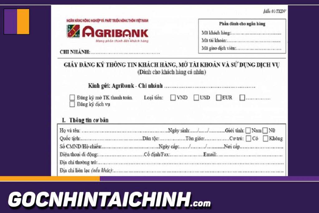 Các bước để làm thẻ ATM Agribank như sau.