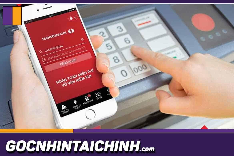 cách rút tiền cây ATM Techcombank