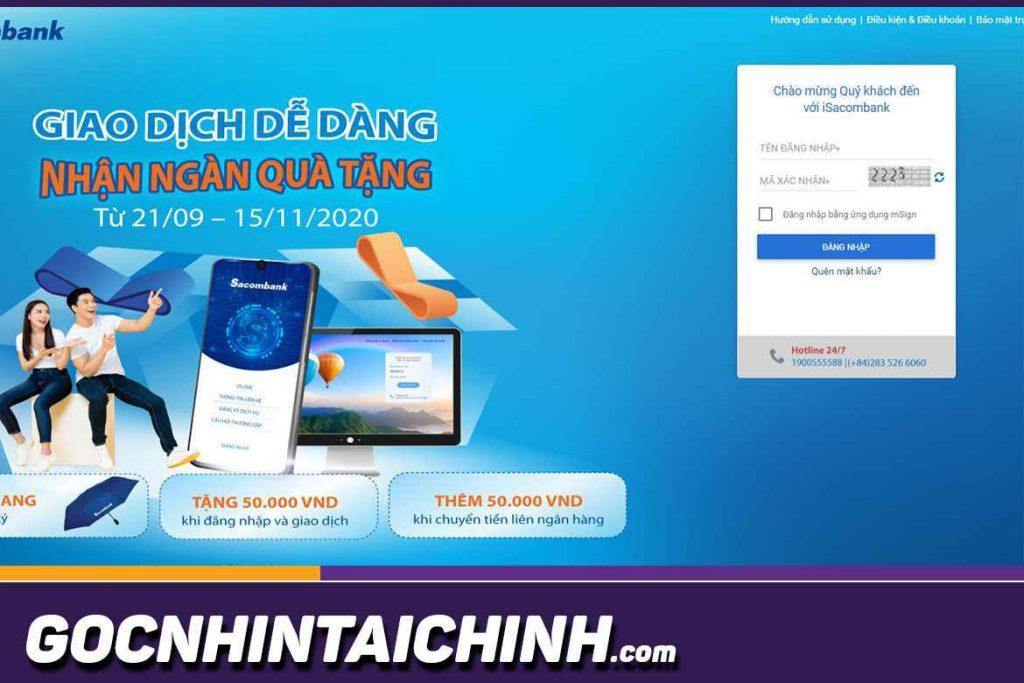 Hướng dẫn sử dụng Internet Banking Sacombank từ a đến z.