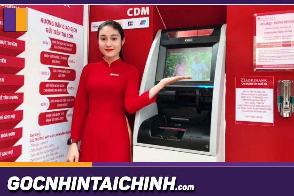Cách rút tiền cây ATM Agribank.