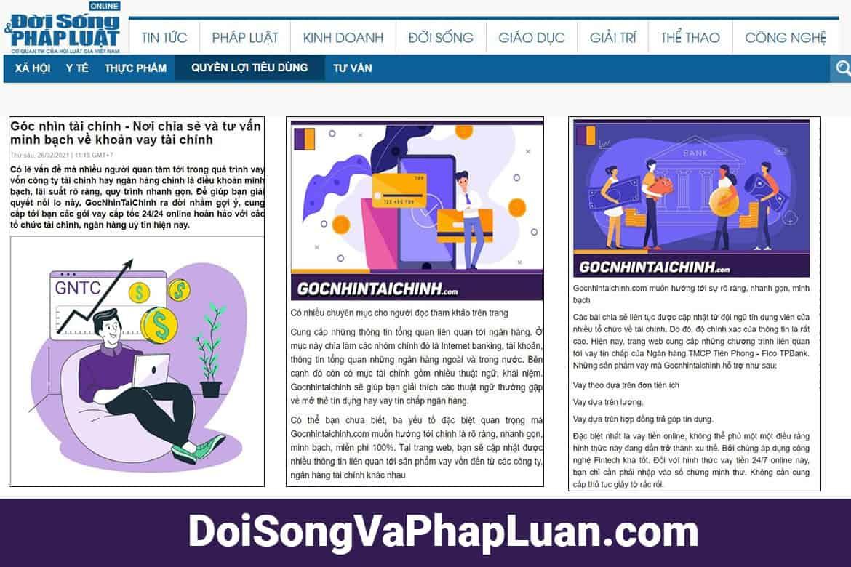 Doisongvaphapluat.com đánh giá về gocnhintaichinh.com như thế nào!