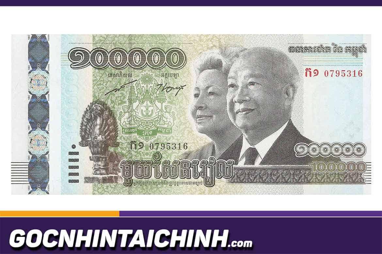 Tiền campuchia 100 đổi sang Việt Nam