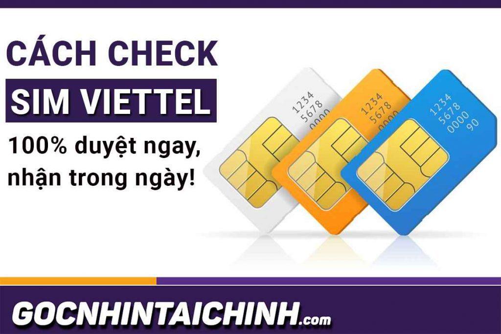 [Bí Quyết] Cách check Sim Viettel vay tiền 100% duyệt ngay!