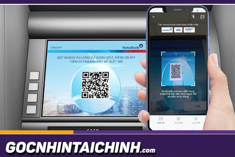 Cách rút tiền bằng mã QR qua ứng dụng tại cây ATM