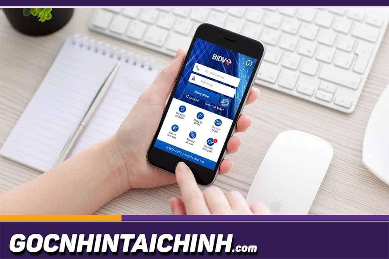 Nhập số điện thoại đăng ký BIDV Smart Banking