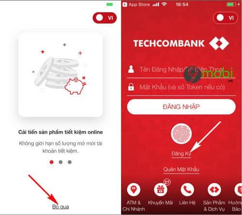 1/ Tra cứu tài khoản Techcombank qua Banking – F@st i-bank